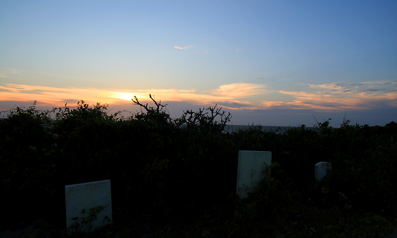 Cemtetery sunset